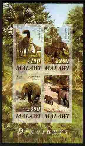 Malawi 2010 Dinosaurs #04 imperf sheetlet containing 4 values unmounted mint