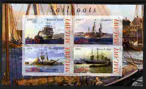 Malawi 2010 Tall Ships #02 imperf sheetlet containing 4 values unmounted mint