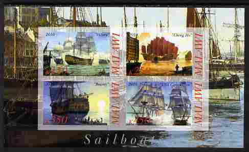 Malawi 2010 Tall Ships #03 imperf sheetlet containing 4 values unmounted mint