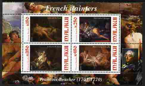 Malawi 2010 Art - French Painters - Boucher perf sheetlet containing 4 values unmounted mint