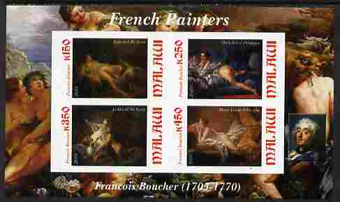 Malawi 2010 Art - French Painters - Boucher imperf sheetlet containing 4 values unmounted mint