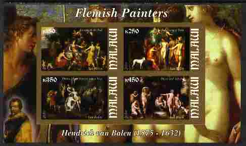 Malawi 2010 Art - Flemish Painters - Balen imperf sheetlet containing 4 values unmounted mint