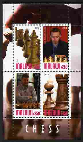 Malawi 2010 Chess - Modern Masters #02 perf sheetlet containing 4 values unmounted mint