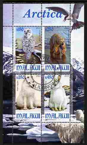 Malawi 2010 Arctic perf sheetlet containing 4 values fine cto used