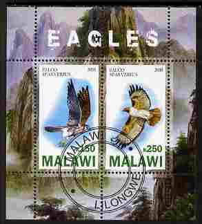 Malawi 2010 Eagles perf sheetlet containing 2 values fine cto used