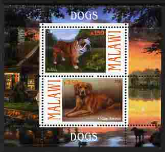 Malawi 2010 Dogs #02 perf sheetlet containing 2 values unmounted mint