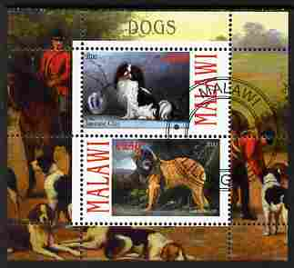 Malawi 2010 Dogs #03 perf sheetlet containing 2 values fine cto used