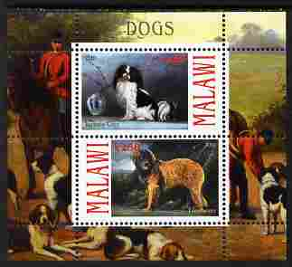 Malawi 2010 Dogs #03 perf sheetlet containing 2 values unmounted mint