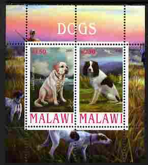 Malawi 2010 Dogs #04 perf sheetlet containing 2 values unmounted mint