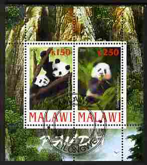 Malawi 2010 Pandas perf sheetlet containing 2 values fine cto used