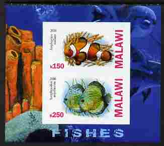 Malawi 2010 Fish imperf sheetlet containing 2 values unmounted mint