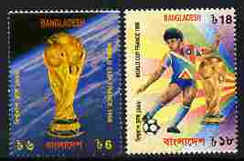 Bangladesh 1998 Football World Cup set of 2 unmounted mint SG 675-6