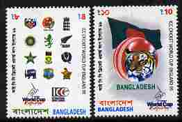 Bangladesh 1999 ICC Cricket World Cup set of 2 unmounted mint SG 717-8