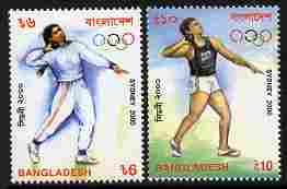 Bangladesh 2000 Sydney Olympic Games perf set of 2 unmounted mint SG 771-2