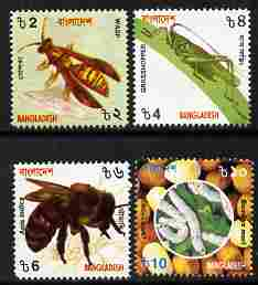 Bangladesh 2000 Insects perf set of 4 unmounted mint SG 758-61