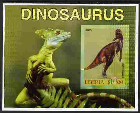 Liberia 2005 Dinosaurs #6 imperf souvenir sheet unmounted mint