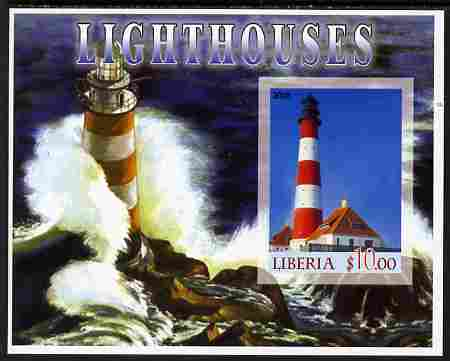 Liberia 2005 Lighthouses #02 imperf m/sheet unmounted mint