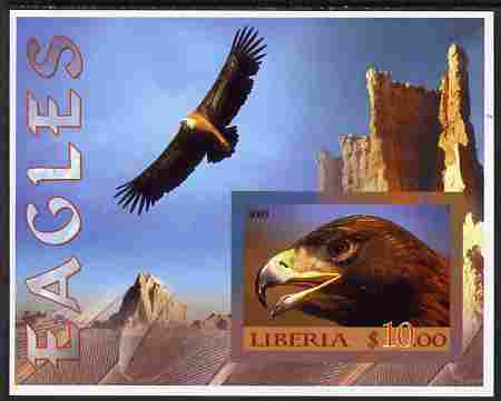 Liberia 2005 Eagles #01 imperf m/sheet unmounted mint