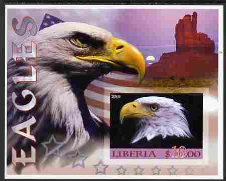 Liberia 2005 Eagles #03 imperf m/sheet unmounted mint