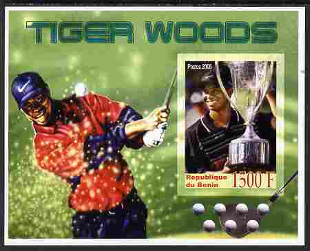 Benin 2005 Tiger Woods imperf m/sheet unmounted mint. Note this item is privately produced and is offered purely on its thematic appeal