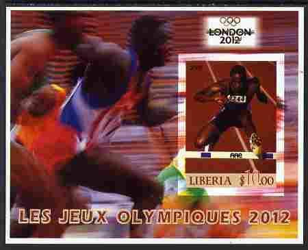 Liberia 2005 London Olympics (2012) imperf m/sheet unmounted mint