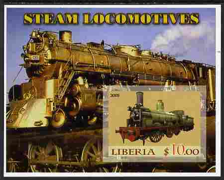 Liberia 2005 Steam Locomotives #01 imperf m/sheet unmounted mint