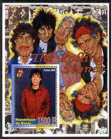 Benin 2005 Rolling Stones perf m/sheet unmounted mint. Note this item is privately produced and is offered purely on its thematic appeal