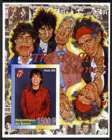 Benin 2005 Rolling Stones imperf m/sheet unmounted mint. Note this item is privately produced and is offered purely on its thematic appeal
