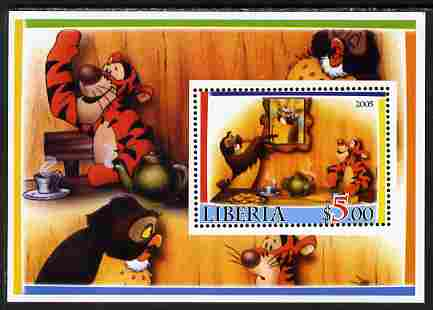 Liberia 2005 Disney's Tigger perf m/sheet #3 unmounted mint