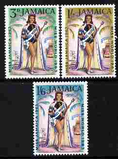 Jamaica 1964 Miss World 1963 perf set of 3 unmounted mint, SG 213-5
