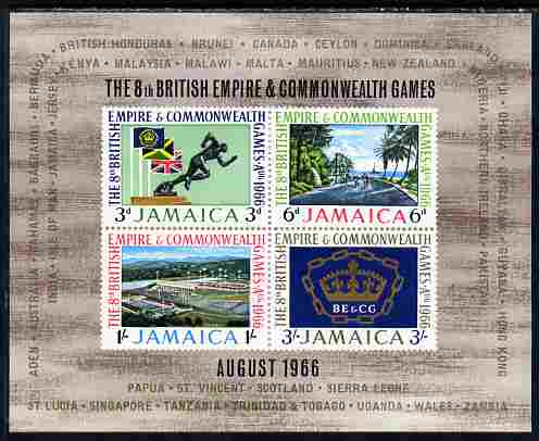 Jamaica 1966 British Empire & Commonwealth Games per m/sheet unmounted mint, SG MS 258