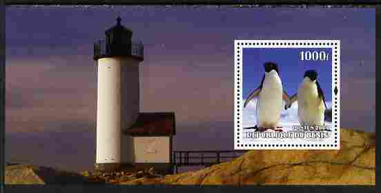 Benin 2004 Penguins #2 (Lighthouse in background) perf m/sheet unmounted mint