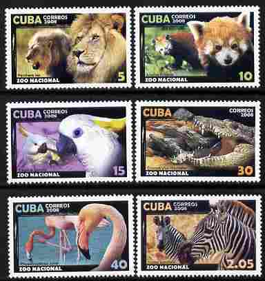 Cuba 2008 National Zoo perf set of 6 unmounted mint