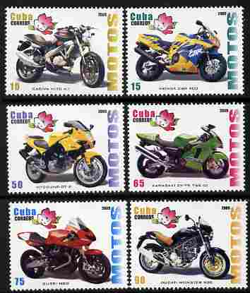Cuba 2009 Motorcycles perf set of 6 unmounted mint