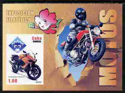 Cuba 2009 Motorcycles imperf m/sheet unmounted mint