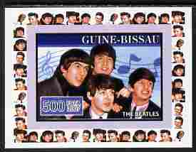 Guinea - Bissau 2007 Music Stars - The Beatles individual imperf deluxe sheet unmounted mint. Note this item is privately produced and is offered purely on its thematic appeal, similar to Yv 2320