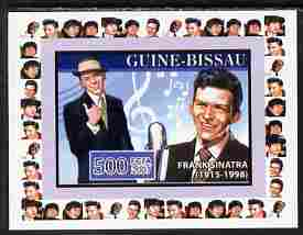 Guinea - Bissau 2007 Music Stars - Frank Sinatra individual imperf deluxe sheet unmounted mint. Note this item is privately produced and is offered purely on its thematic...