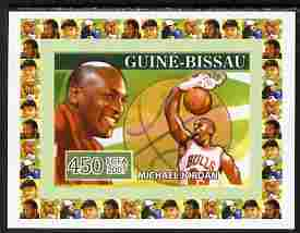 Guinea - Bissau 2007 Sportsmen of the Century - Michael Jordan individual imperf deluxe sheet unmounted mint. Note this item is privately produced and is offered purely on its thematic appeal, similar to Yv 2282
