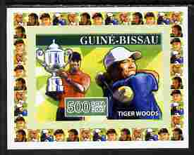 Guinea - Bissau 2007 Sportsmen of the Century - Tiger Woods individual imperf deluxe sheet unmounted mint. Note this item is privately produced and is offered purely on its thematic appeal, similar to Yv 2283