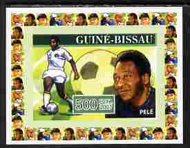 Guinea - Bissau 2007 Sportsmen of the Century - Pele individual imperf deluxe sheet unmounted mint. Note this item is privately produced and is offered purely on its thematic appeal, similar to Yv 2285