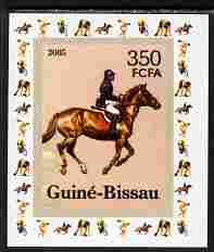 Guinea - Bissau 2006 Sports - Equestrian individual imperf deluxe sheet unmounted mint. Note this item is privately produced and is offered purely on its thematic appeal