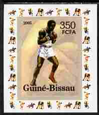Guinea - Bissau 2006 Sports - Boxing individual imperf deluxe sheet unmounted mint. Note this item is privately produced and is offered purely on its thematic appeal