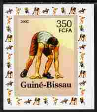 Guinea - Bissau 2006 Sports - Running individual imperf deluxe sheet unmounted mint. Note this item is privately produced and is offered purely on its thematic appeal