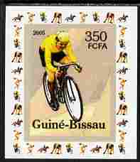 Guinea - Bissau 2006 Sports - Cycling individual imperf deluxe sheet unmounted mint. Note this item is privately produced and is offered purely on its thematic appeal