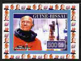 Guinea - Bissau 2007 John Glenn #1 individual imperf deluxe sheet unmounted mint. Note this item is privately produced and is offered purely on its thematic appeal, as Yv 2290