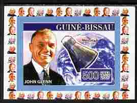 Guinea - Bissau 2007 John Glenn #2 individual imperf deluxe sheet unmounted mint. Note this item is privately produced and is offered purely on its thematic appeal, as Yv 2291