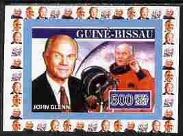 Guinea - Bissau 2007 John Glenn #3 individual imperf deluxe sheet unmounted mint. Note this item is privately produced and is offered purely on its thematic appeal, as Yv 2292