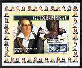 Guinea - Bissau 2007 Ornithologists #1 - James Audubon individual imperf deluxe sheet unmounted mint. Note this item is privately produced and is offered purely on its thematic appeal, as Yv 2314