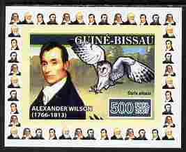 Guinea - Bissau 2007 Ornithologists #2 - Alexander Wilson individual imperf deluxe sheet unmounted mint. Note this item is privately produced and is offered purely on its thematic appeal, as Yv 2315