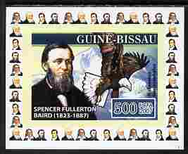 Guinea - Bissau 2007 Ornithologists #4 - Spencer Fullerton individual imperf deluxe sheet unmounted mint. Note this item is privately produced and is offered purely on its thematic appeal, as Yv 2317